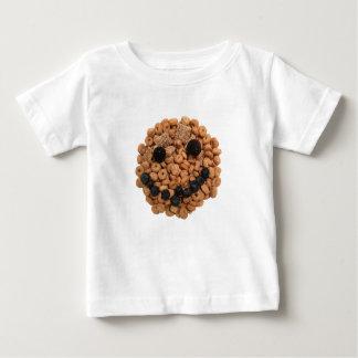 Camiseta Para Bebê Cara de sorriso bonito da fruta e do cereal