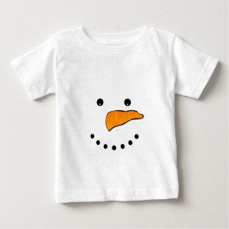 Camiseta Para Bebê Cara do boneco de neve