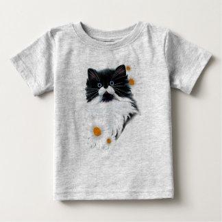 Camiseta Para Bebê Cara do gatinho do smoking