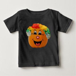 Camiseta Para Bebê Cara do palhaço da lanterna do o de Jack, abóbora
