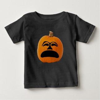 Camiseta Para Bebê Cara infeliz da lanterna do o de Jack, abóbora do