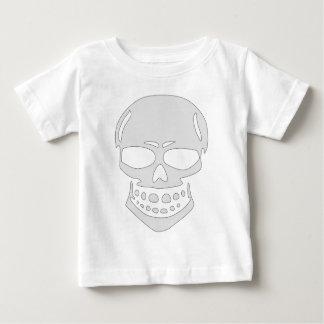 Camiseta Para Bebê Cara irritada do crânio