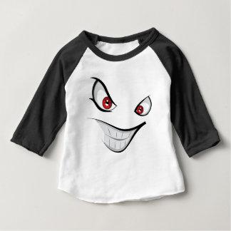 Camiseta Para Bebê Cara má com olhos vermelhos
