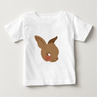 Camiseta Para Bebê cara marrom do coelho do bebê