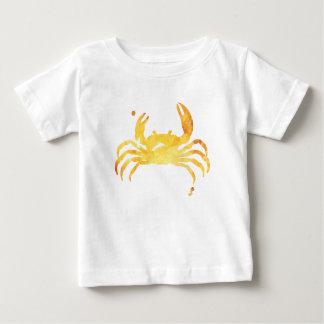 Camiseta Para Bebê Caranguejo amarelo feito sob encomenda do