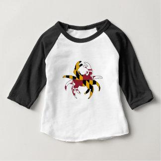 Camiseta Para Bebê Caranguejo da bandeira de Maryland