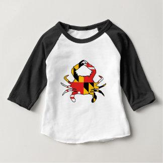 Camiseta Para Bebê Caranguejo de Maryland