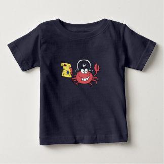 Camiseta Para Bebê Caranguejo do pirata