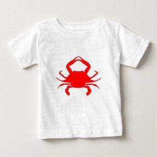 Camiseta Para Bebê Caranguejo vermelho