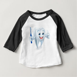 Camiseta Para Bebê Caráter da mascote do dente