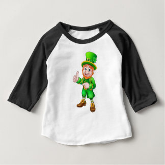 Camiseta Para Bebê Caráter do Dia de São Patrício do Leprechaun dos