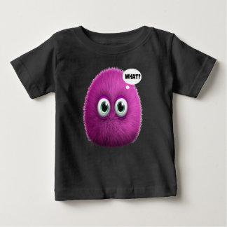 Camiseta Para Bebê Caráter engraçado para miúdos - que?