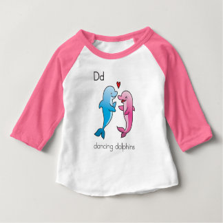 Camiseta Para Bebê Caráteres de mnanipulação da fónica: golfinhos da