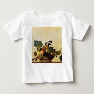 Camiseta Para Bebê Caravaggio - cesta da fruta - trabalhos de arte