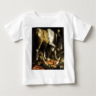 Camiseta Para Bebê Caravaggio - conversão na maneira a Damasco
