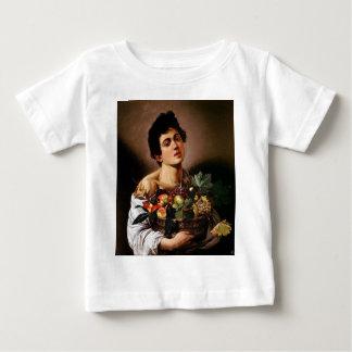 Camiseta Para Bebê Caravaggio - menino com uma cesta de trabalhos de