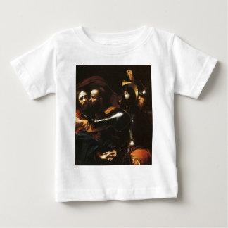 Camiseta Para Bebê Caravaggio - tomada do cristo - trabalhos de arte