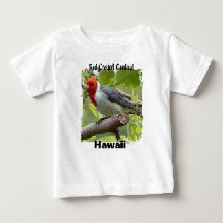 Camiseta Para Bebê Cardeal de crista encarnada