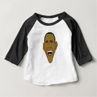 Camiseta Para Bebê Caricatura de Obama