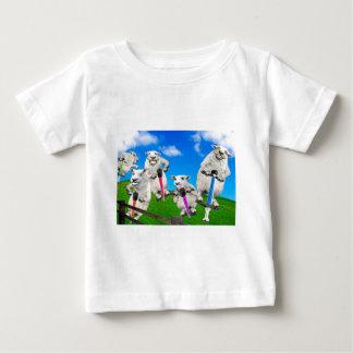 Camiseta Para Bebê Carneiros de salto