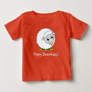 Camiseta Para Bebê Carneiros woolly brancos bonitos e peluches do