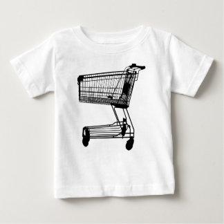 Camiseta Para Bebê Carrinho de compras