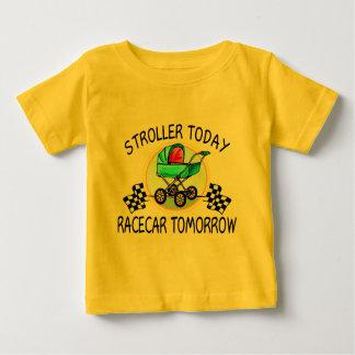 Camiseta Para Bebê Carrinho de criança hoje, Racecar amanhã