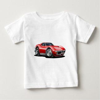 Camiseta Para Bebê Carro 1968-72 do vermelho de Corveta