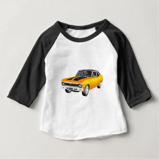 Camiseta Para Bebê Carro 1968 do músculo do ouro