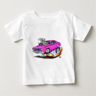 Camiseta Para Bebê Carro 1970-74 do rosa do espanador de Plymouth