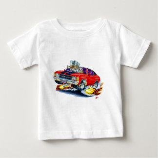 Camiseta Para Bebê Carro 1971-72 superior Vermelho-Preto de Chevelle