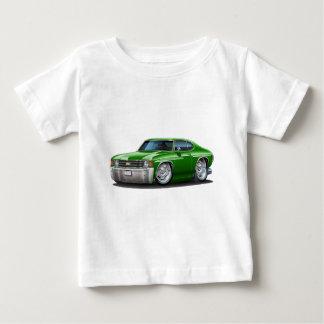 Camiseta Para Bebê Carro 1971-72 verde de Chevelle