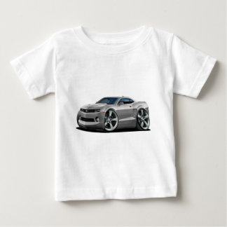 Camiseta Para Bebê Carro 2010-12 de prata de Camaro