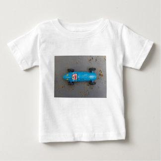 Camiseta Para Bebê Carro azul do brinquedo