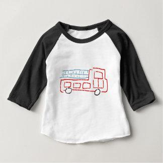 Camiseta Para Bebê Carro de bombeiros
