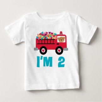 Camiseta Para Bebê Carro de bombeiros Im 2