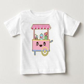 Camiseta Para Bebê Carro doce bonito - sorvete