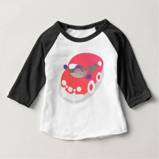 Camiseta Para Bebê Carro dos desenhos animados