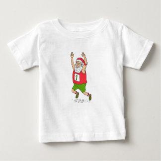 Camiseta Para Bebê Carro Running da maratona do Natal do pai de Papai