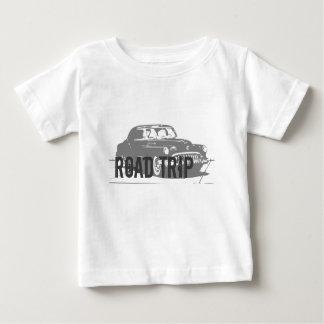 Camiseta Para Bebê Carro vintage da viagem por estrada