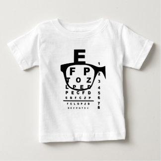 Camiseta Para Bebê Carta de teste do olho de Blurr