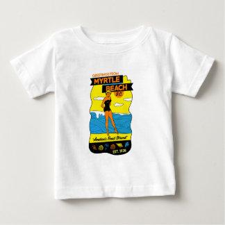 Camiseta Para Bebê Cartão de Myrtle Beach da velha escola