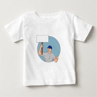 Camiseta Para Bebê Cartaz Circ de protesto do activista do