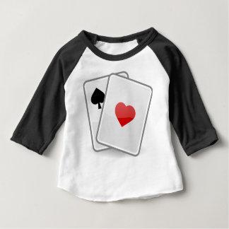 Camiseta Para Bebê Cartões de jogo