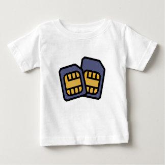 Camiseta Para Bebê Cartões de SIM