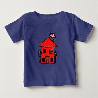 Camiseta Para Bebê casa vermelha