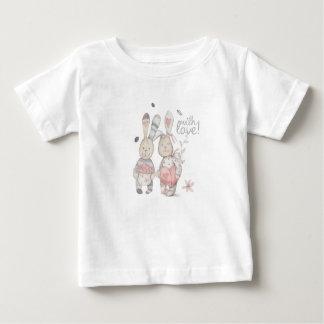 Camiseta Para Bebê casal banny 2 do coelho