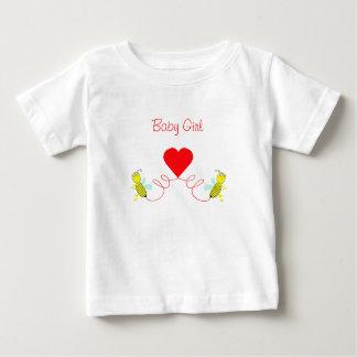 Camiseta Para Bebê casal das abelhas