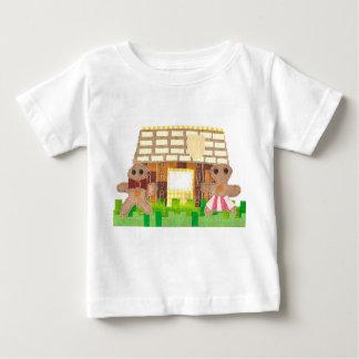 Camiseta Para Bebê Casal do pão-de-espécie nenhum t-shirt do bebê do