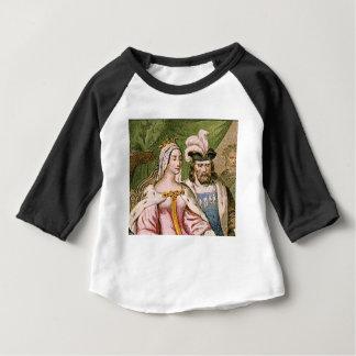 Camiseta Para Bebê casal do rei e da rainha